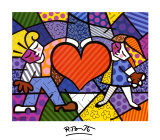 Heart Kids Art Print