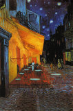 The Cafe Terrace on the Place du Forum at Night, Arles, 1888 Poster