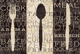 Kitchen Words Trio Art Print