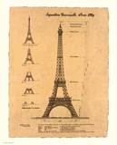 Eiffel Tower, Exposition, 1889 Art Print