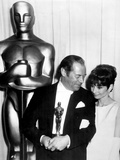 37th Annual Academy Award, 1964. Audrey Hepburn With Rex Harrison for
