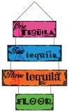 Three Tequila Floor Sign Tin Sign Tin Sign