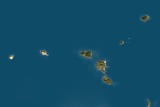 Buy Satellite Image of Aeolian Islands, Italy at AllPosters.com