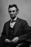 Abraham Lincoln Seated by Alexander Gardner Poster