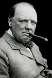 Winston Churchill Smoking Cigar Poster