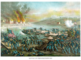 Vintage Civil War Print of the Battle of Fredericksburg