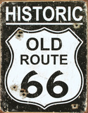 Old Route 66 - Weathered Tin Sign Tin Sign