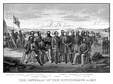 Vintage Civil War Print Featuring Sixteen of the Confederate Army