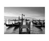 Venice At Sunrise In Black&White