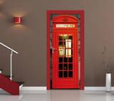 British Phone Box Door Wallpaper Mural Wallpaper Mural