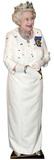 Queen Elizabeth wearing crown Lifesize Standup Cardboard Cutouts