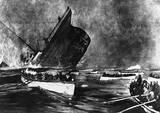 Titanic Sinking Vintage Style Poster