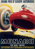 Monaco France (French Rivera) Vintage Style Travel Poster