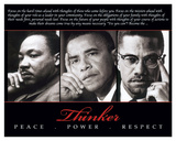 Thinker (Trio): Peace, Power, Respect