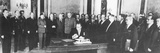 Otto Grotewohl (1894-1964), First Prime Minister of the GDR (German Democratic Republic), Signing?