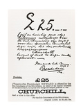 Wanted Poster for Escaped Prisoner of War Churchill, from 'A Roving Commission by Winston S.…