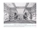 Interior of the Palace of Nineveh, Illustration from 'Hutchinson's History of the Nations'