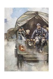 Buy A French Motorised Relief Column Moving Forward in Trucks During the First World War, from... at AllPosters.com