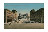 Piazza Venezia and Monument to King Victor Emmanuel II of Italy, Rome. Postcard Sent in 1913