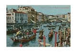Grand Canal, Venice. Postcard Sent in 1913