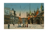 St Mark's Square, Venice. Postcard Sent in 1913