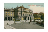 Milan - Piazza and Teatro Alla Scala. Postcard Sent in 1913
