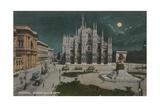 Piazza Del Duomo, Milan. Postcard Sent in 1913