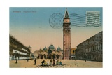 Venice - St Mark's Square. Postcard Sent in 1913