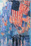 Childe Hassam Street in the Rain Poster