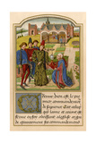 Georges Chastellain Offering His Book, to Charles, Duke of Burgundy, 1400s