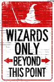 Wizards Only Beyond This Point Sign Indoor/Outdoor Rigid Resin Sign