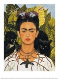 Self-Portrait with Thorn Necklace and Hummingbird, c.1940 Art Print