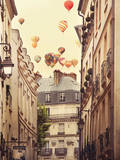 Flying Over Paris Art Print