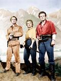 SHANE, from left: Alan Ladd, Jean Arthur, Van Heflin, 1953.