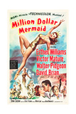 MILLION DOLLAR MERMAID, Esther Williams, Victor Mature, David Brian, 1952