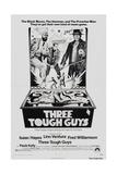 THREE TOUGH GUYS, (aka TOUGH GUYS), from left: Isaac Hayes, Lino Ventura, Fred Williamson, 1974 Art Print