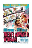 THERE'S ALWAYS A WOMAN, US poster art, from left: Joan Blondell, Melvyn Douglas, 1938