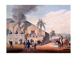 Slaves Set to Work Producing Rum at the Distillery, from 'ten Views in the Island of Antigua', 1823