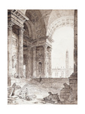 A Classical Roman Arcade, with Figures in the Foreground, 1759