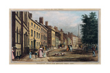 Broad Way from the Bowling Green, Engraved by J.R. Hutchinson, 1828