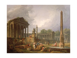 Architectural Capriccio with Temple and Obelisk, 1798