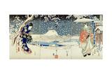 Snow Scene in the Garden of a Daimyo