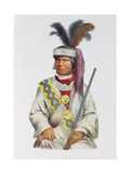 Halpatter-Micco or Billy Bowlegs, a Seminole Chief, C.1825, Illustration from 'The Indian Tribes…