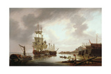 British Men of War at Anchor in Blackwall Reach, 1792