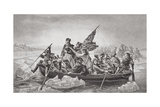 Washington Crossing the Delaware Near Trenton, New Jersey, Christmas 1776, from 'Illustrations of…