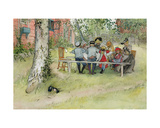 Breakfast under the Big Birch, from 'A Home' Series, C.1895 Giclee Print