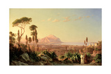 Buy Palermo with Mount Pellegrino, C.1850 at AllPosters.com