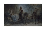 Buy Elegant Women in a Horse-Draw Carriage at AllPosters.com