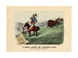 A Swell Sport on a Buffalo Hunt, Pub. by Currier and Ives, 1882