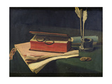 Still Life with Book, Papers and Inkwell, 1876